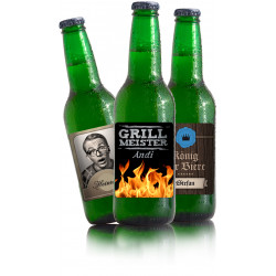 6 Flaschen Bier mit eigenem...